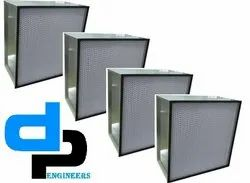 Micro Glass Fiber High Temperature Air Filter With Double Header Sus Frame