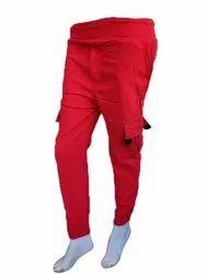 Red Plain Ladies Toko Cargo Pants, Size: Xl