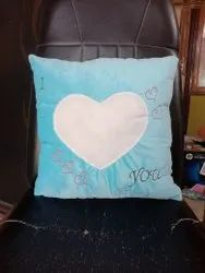 Blue Soft Embroidered Cushions, For Home, Size: 15*15 Inches