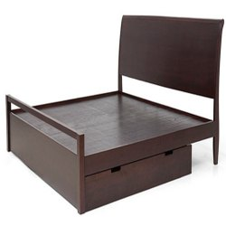 Rosewood Dark Brown Modern Bed