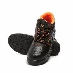 Agarson Innova Black And Orange PVC Safety / Industrial Shoes