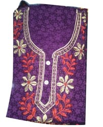 Ladies Purple Embroidered Nighty