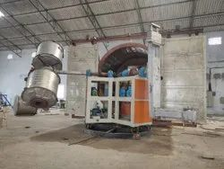 3 Independent Arm Bi Axial Rotational Moulding Machine