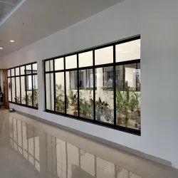 Rectangular Black Aluminum Window Frame