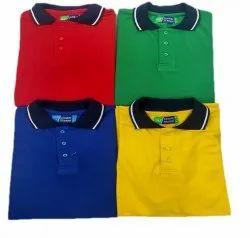 Global Teraxo Spun Matty School Uniform T Shirt, Size: 22 Inch
