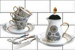 Linum Kitchen Ceramic Wall Tile, Thickness: 5-10 mm