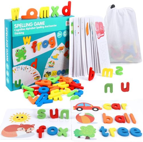 Wooden Red Alphabet Spelling Game