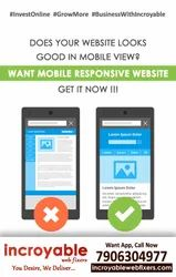 PHP/JavaScript Responsive Mobile Website Design Service, With Online Support