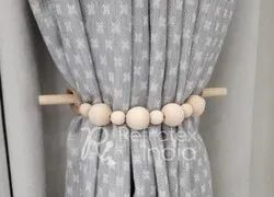 Stylish Wooden Bead Curtain Tieback