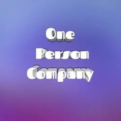 One Person Company Registration Service, Pan India