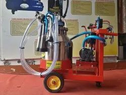 One Bucket Trolley Milking Machine