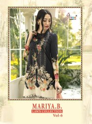Shree Fabs Mariya B Vol-6 Lawn Collection Pakistani Salwar Suits Catalog