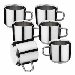 Stainless Steel Double Wall Tea Cups Set of 6