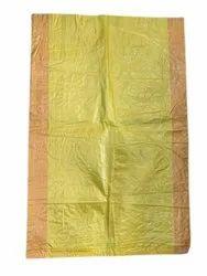 Rectangular Yellow PP Woven Sack Bag, For Packaging, Storage Capacity: 20 Kg