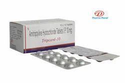 Tripcard-10 10 Mg Amitriptyline Hydrochloride Tablets, Mental Illnesses, Pharma Planet India