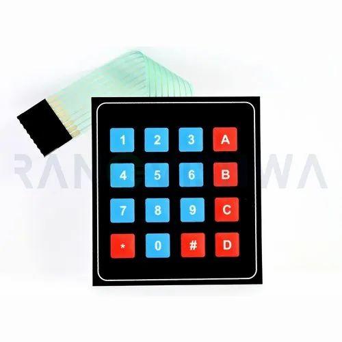 4x4 Matrix Membrane Keyboard