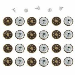 10 Mm Aluminum Jeans Button Rivets
