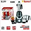 750 Watt Sumeet Mixer Grinder, For Wet & Dry Grinding