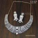 American Diamond Rodium Polish Necklace Set