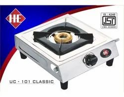 1 Burners Stainless Steel UC-101 Classic SS One Burner Stove, Size: 1x1 Feet