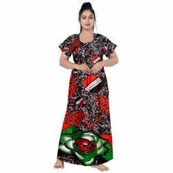 Cotton Printed Women Nightwear, Size: 44