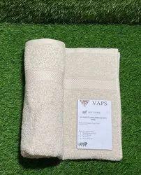 VAPS Baby Pink Embroidered Bathroom Towel, 250-350 GSM, Size: 75 X 150 Cm