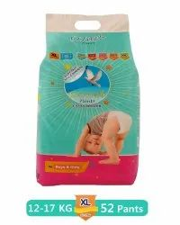 Glider Overnight Extra Absorbency Premium Diapers Pants, XL, 52 Count, Size: X-Large