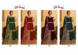 Kohinoor Pakistani Salawar Kameez Skirt With Short Top Heavy Embroidery Set