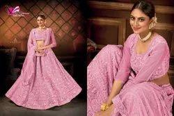 Varni Fabrics Zeeya Sultana Embroidery Work Net 1001-1004 Series Designer Lehenga
