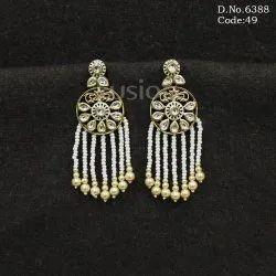 Antique Kundan Earring India
