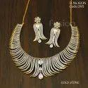 American Diamond Gold Polish Necklace Set