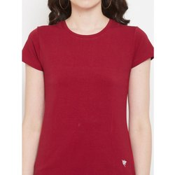 Half Sleeve Casual Wear Ladies Round Neck T Shirt