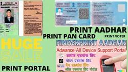 Colour Life Time aadhar print portal, in Pan India, Dimension / Size: Null