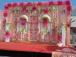 Outdoor Modern Wedding Stage Decoration, Pan India