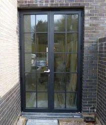 Hinged Plain Aluminium Glass Doors, For Home