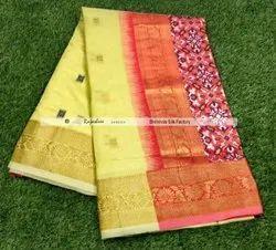 Rajashree Sarees Party Wear Siddharth Bhomna Silk Saree, 6 m (With Blouse Piece)