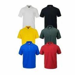 Hosiery White Half sleeves T-shirts, Size: Medium