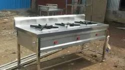 stainless steel Commercial Gas Burner, For Hotel, 3