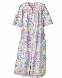 Full Length Cotton Ladies Printed Nighty Gown