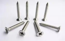 Full Thread 1 3/4 Inch Stainless Steel Sheet Metal Screw, Polished