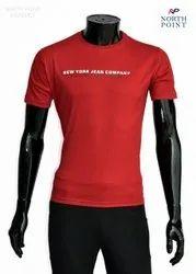 Round Half Sleeve Gym T Shirt, Size: Medium