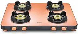 Prestige Gas Stoves 4 Burner Glass Rs.4900/- Meerut, For Kitchen, Model Name/Number: Magic