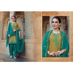 Casual Wear Patiala Salwar Suit, Machine wash, Patiyala