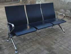 PU Moulded 3 Seater SS Waiting Bench