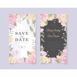 Glossy Paper Invitation Card Printing Service, Pan India