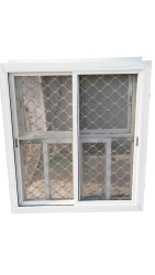 Polished Grill Aluminium Window, For Home, Rectangle