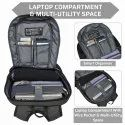 EUME Propine 22Ltr 15.6 Inch Laptop Massager Backpack With USB Charging Port