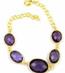 Amethyst Gemstone Stylish Bracelets