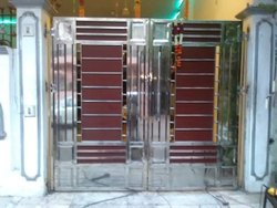 Hinged Stainless Steel SS Main Gate, For Home