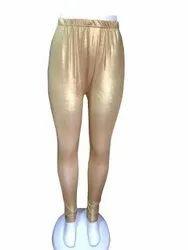 Polyester Straight Fit Golden Shimmer Legging, Waist Size: XL, XXL